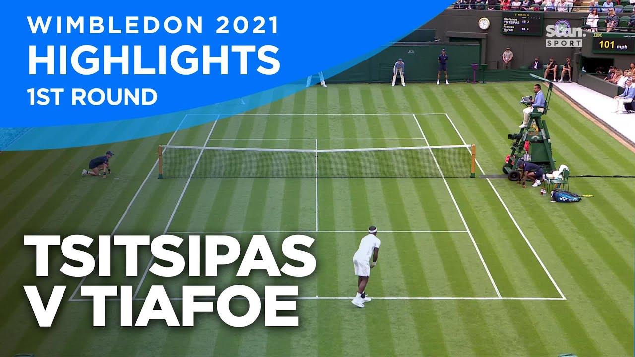 Stefanos Tsitsipas v Frances Tiafoe Highlights | Round 1 I Wimbledon 2021