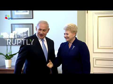 Lithuania: Netanyahu meets Grybauskaite in Vilnius ahead of Baltic summit