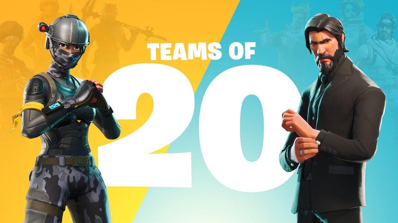 Teams of 20 Announce Trailer (Battle Royale)