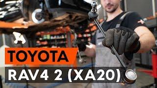 Substituição Bieleta de barra estabilizadora TOYOTA RAV4: manual técnico
