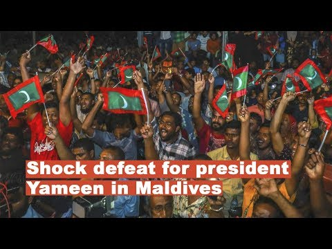 Shock defeat for pro-China president Abdulla Yameen, as Nasheed's party sweeps poll