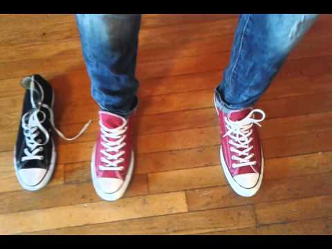 red converse 70s all star on feet - YouTube 7f82776a7