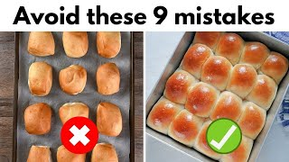 9 Mistakes that you are doing while making Ladi Pav (Eggless Dinner Rolls)
