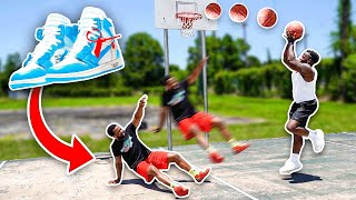 1v1 Against My Bigger & Stronger Brother! Off White Jordan Sneaker Wager!
