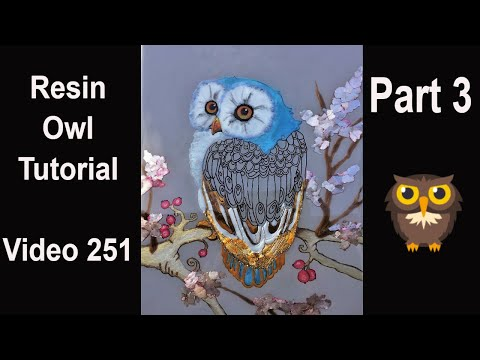 Learn HOW TO make this amazing RESIN OWL/ full tutorial