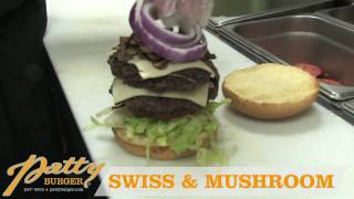 Patty Burger - Swiss & Mushroom