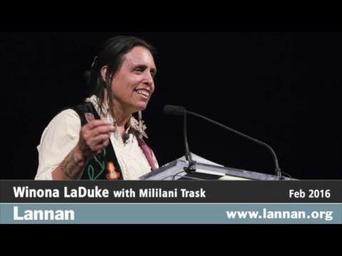 Winona LaDuke, Talk, 24 February 2016 - YouTube