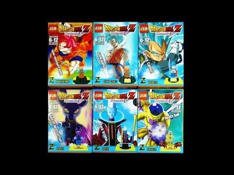 LEGO Dragon Ball Z: Resurrection 'F' Minifigures (knock-off) JLB 3D33901-3D33906