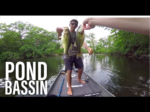 Pond Bass Fishing In The Rain -- VLOG