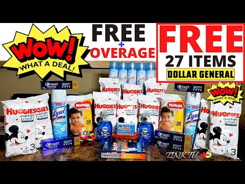 🔥💥DOLLAR GENERAL COUPONING💥FREE DEALS WITH OVERAGE💥FREE HUGGIES💥HOT DEALS THAT YOU CAN DO ALL WEEK💥🔥
