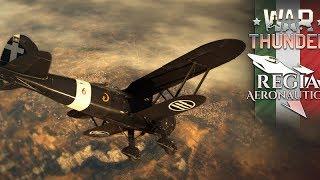 War Thunder. Летающая Пицца и халявный прем! Как качать Итальянцев?