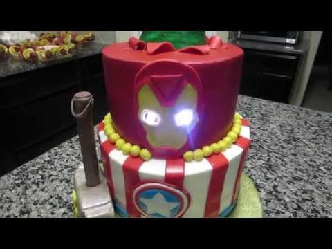 How to make a Fondant Iron Man Face cut out