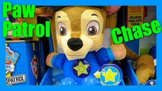 Nickelodeon Paw Patrol Snuggle Up Pup  Chase Sleep Lullaby Toy - Belly Lights Up