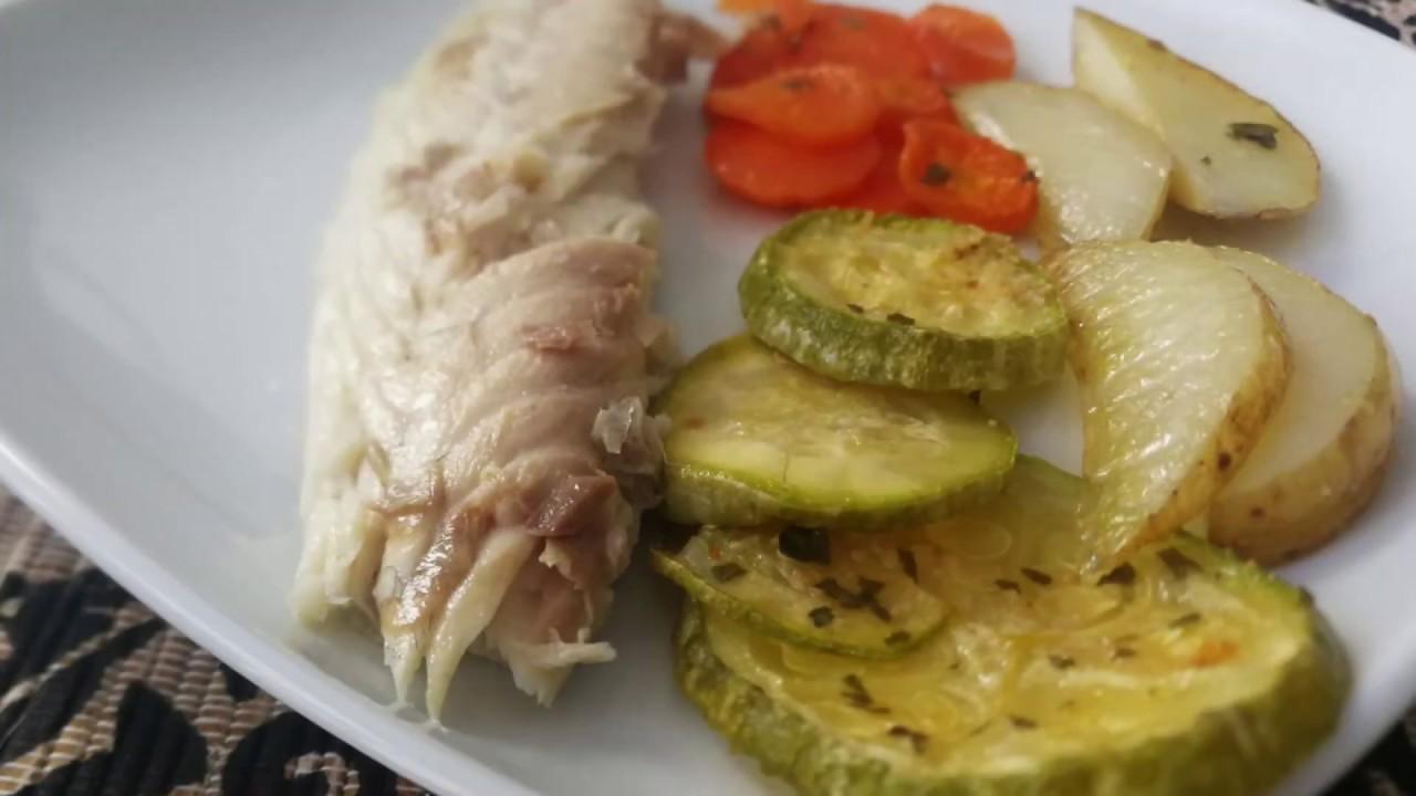Deliciosa Dorada a la Sal con Verduras | Muy Fácil y Rápida de Hacer | Receta sana y light