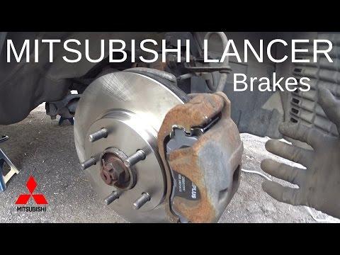 Mitsubishi Lancer 2011 front brake replacement