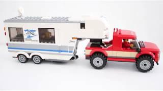 Lego City Pickup & Caravan/husvagn 60182 Speedbuilding, stop motion.