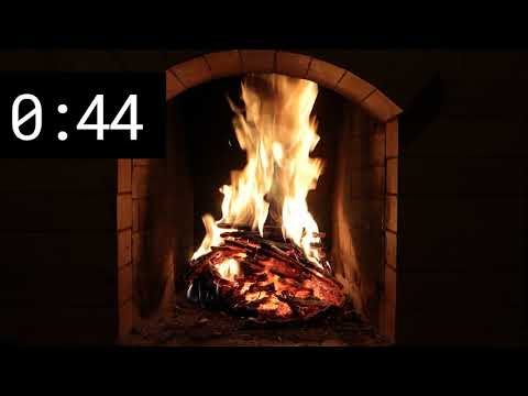 Nice fireplace - relax for 2 minutes