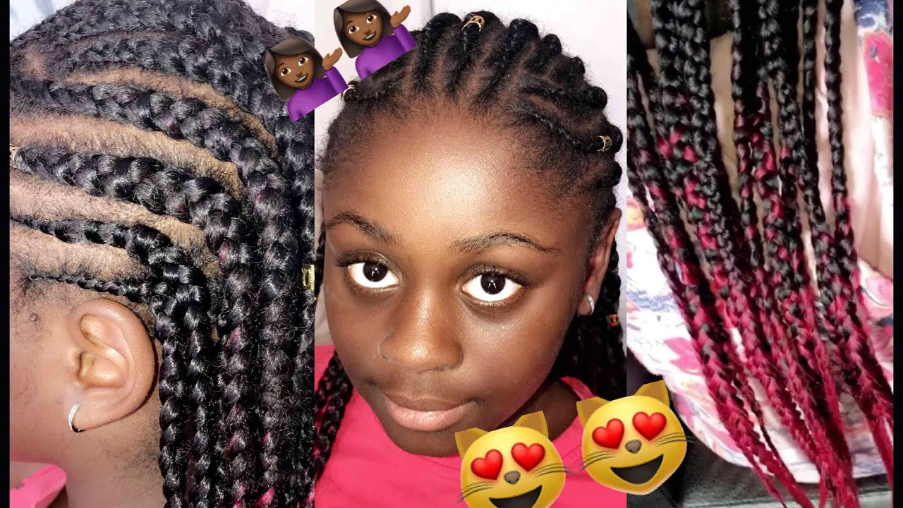 Hair Styles Feed In Braids: How To Do Jumbo Feed In Braids (half Up Half Down) Summer