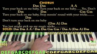 Black Magic Woman - Piano Cover Lesson in Dm with Chords/Lyrics