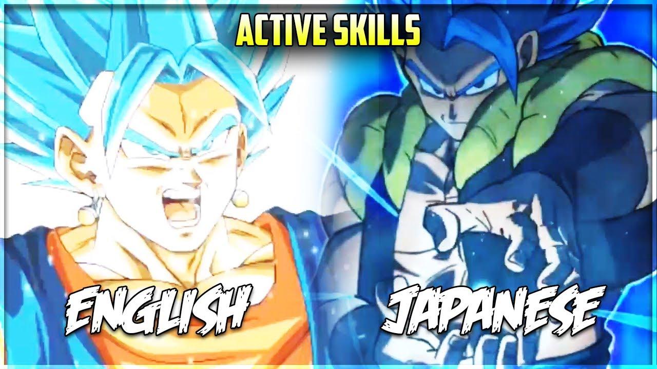 Voiced Active Skills Comparison ENG/JP July 2020 DBZ Dokkan Battle