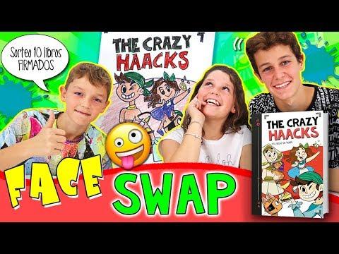 🙃¡FACE SWAP challenge! RETO de Cambio de Caras con SMART SKETCHER 🎨 ¡¡SORTEO 10 LIBROS FIRMADOS!!