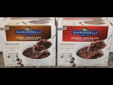 Ghirardelli Brownie Mix: Dark Chocolate & Double Chocolate (Mug Brownie) Review