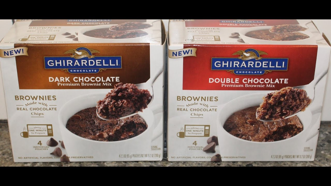 Ghirardelli Brownie Mix Dark Chocolate Double Mug Review