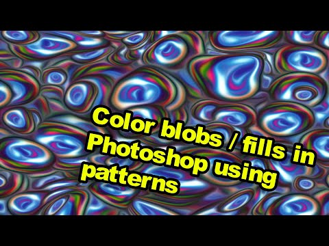 Photoshop tutorial : Blobs & color fills using patterns thumbnail