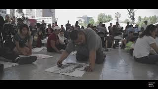 Jornada de dibujo al aire libre en homenaje a Gilberto Aceves Navarro en el Palacio de Bellas Artes.