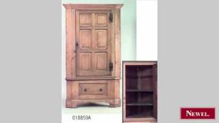 Antique English Country Oak Corner Cabinet With 1 Door