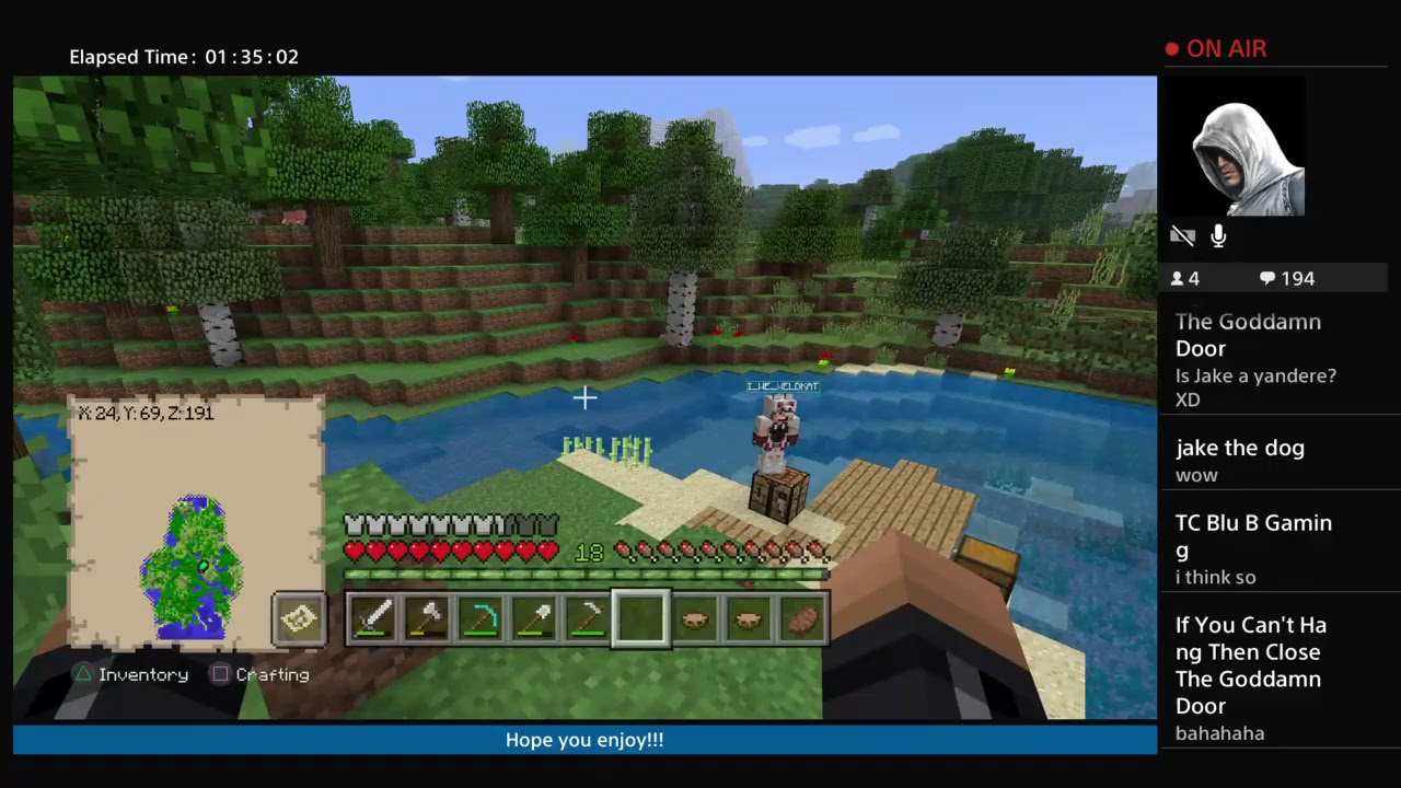 Minecraft stream-waiting for people so we can play Battle Dome