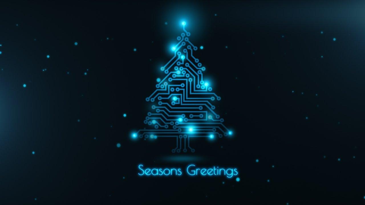 Animated Christmas Card Template Xmas Circuit Tree Youtube