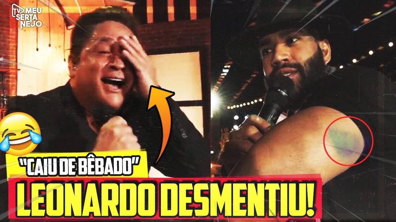 LEONARDO DESMENTE GUSTTAVO LIMA em LIVE sobre OLHO ROXO!