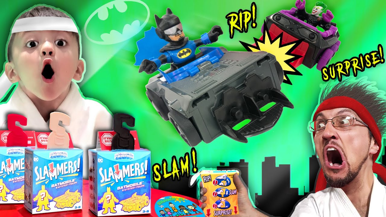 BATMAN & DC SUPER FRIENDS SLAMMERS Surprise Boxes! (Shawn's Circle | Doh Much Fun #11)