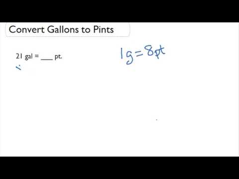 Convert Gallons To Pints Youtube