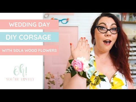 How to make a wrist corsage using Sola Wood Flowers