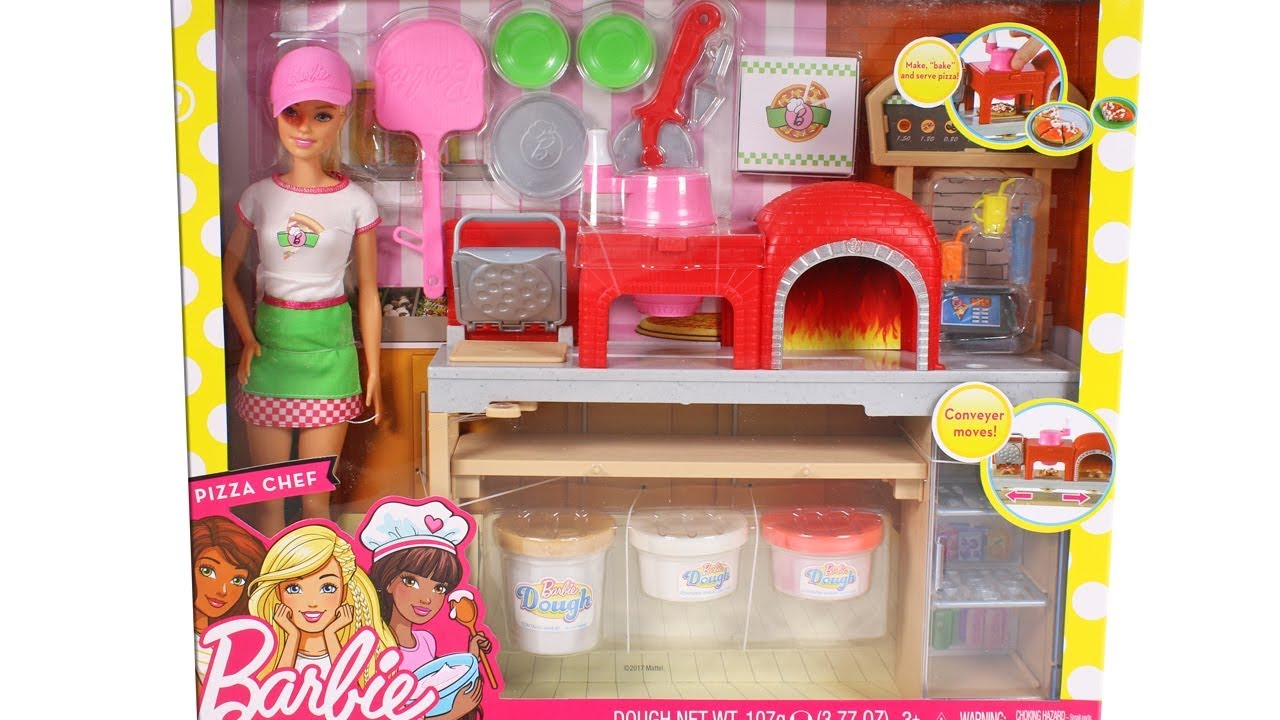 Barbie Pizza Chef Playset Unboxing Toy Review - YouTube