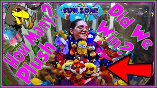 👑 Claw Machines BIG WINS Winning at the Claw Machine Fun Arcade Game Plush Giant Jackpot Win Hawkes