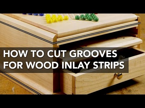 How to Use a Table Saw to Cut Grooves for Inlay Strips