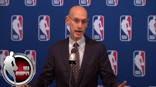 [FULL] Adam Silver on age limit change, Michael Jordan's role, gambling and more | NBA on ESPN