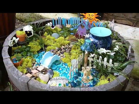 Beautiful and natural fairy garden design YouTube