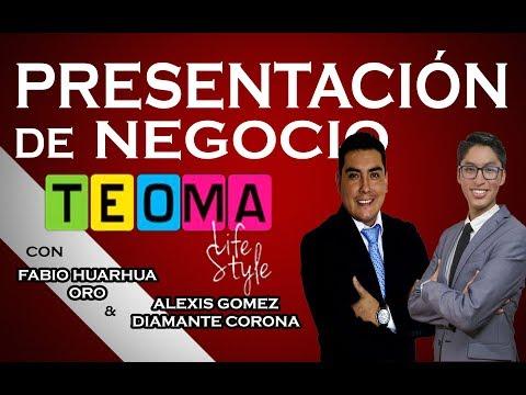 PRESENTACIÓN DE NEGOCIOS TEOMA - FABIO HUARHUA & ALEXIS GOMEZ