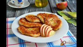 Оладьи на сметане с яблоками Для детей