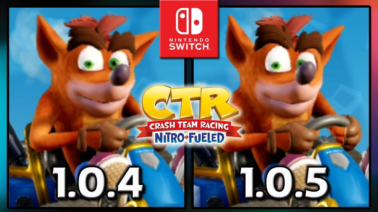 Crash Team Racing Nitro-Fueled | Patch 1.0.4 VS 1.0.5 | Loading Time Comparison on Switch