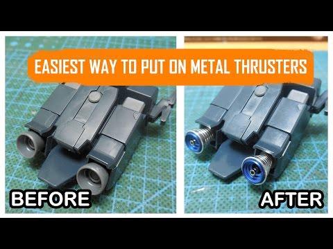 Gunpla Tutorial: Easiest Way to Put on Metal Thrusters Vents