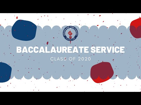 Greater New York Academy Baccalaureate Service 2020