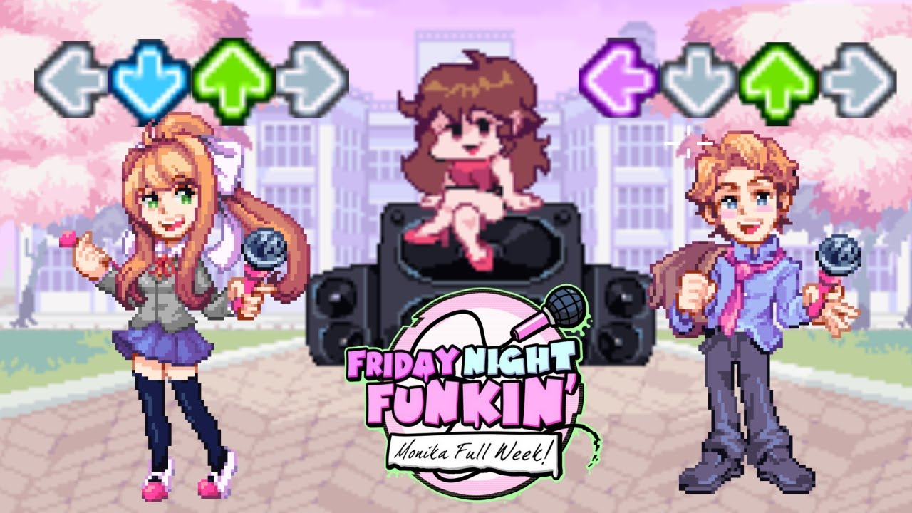 "Friday Night Funkin' - Vs. Monika Full Week (Secret Song) ""Your Reality"""
