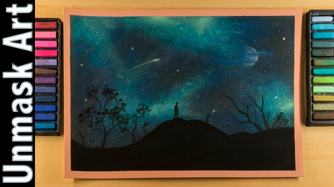 Night Sky Soft Pastel Drawing Time Lapse Youtube