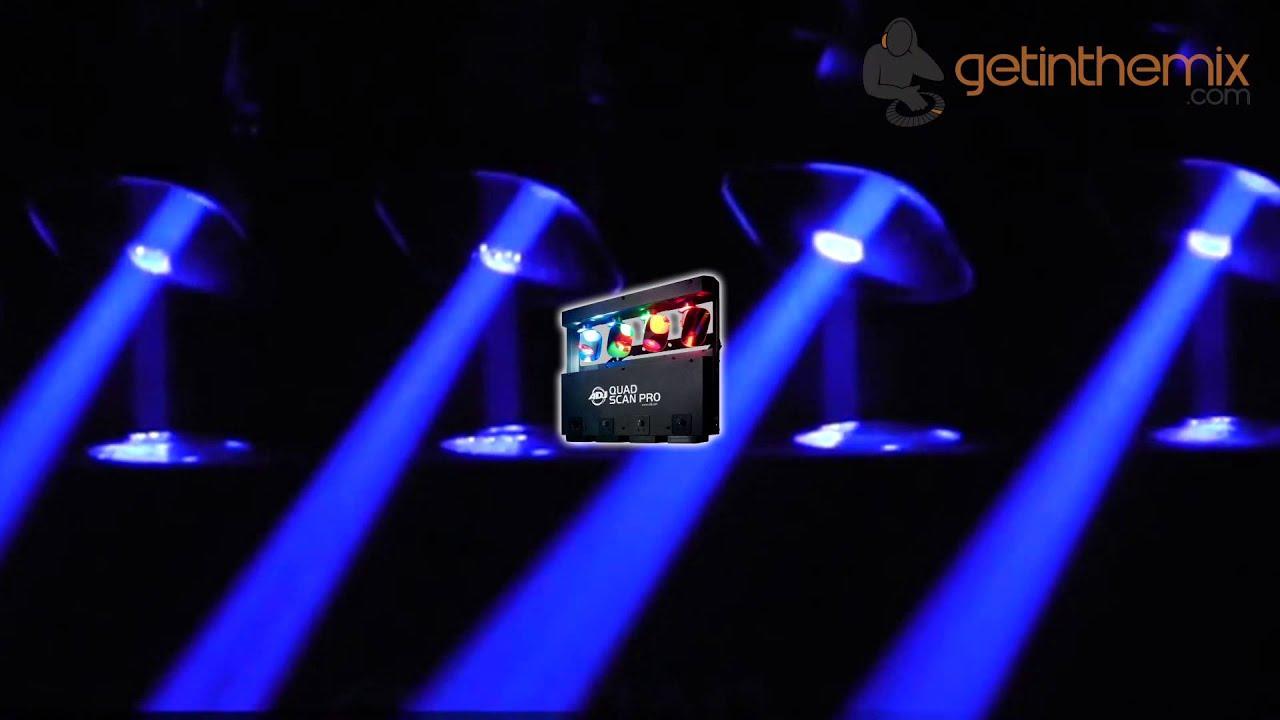 & American DJ - ADJ Quad Scan Pro Lighting Effect - YouTube azcodes.com