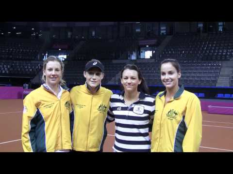 Australian Fed Cup Team - Shout out to the juniors